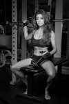 Female Fitness Black and White Gym Photoshoot