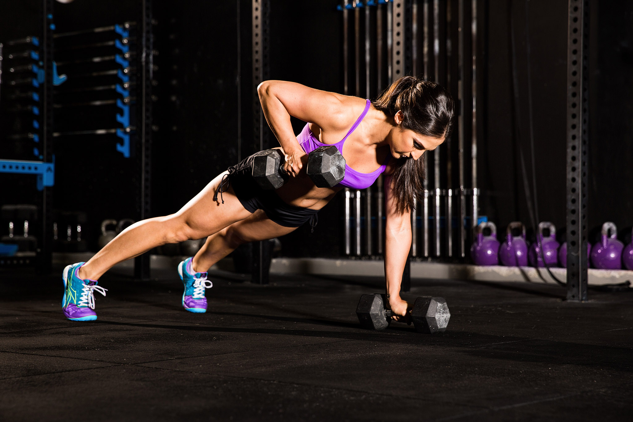 Photoshoot of Emma training at Reebok Crossfit Centre Gold Coast